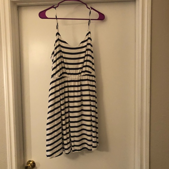 af9fa6ff43 LC Lauren Conrad Dresses | Blue And White Striped Dress With Pockets ...